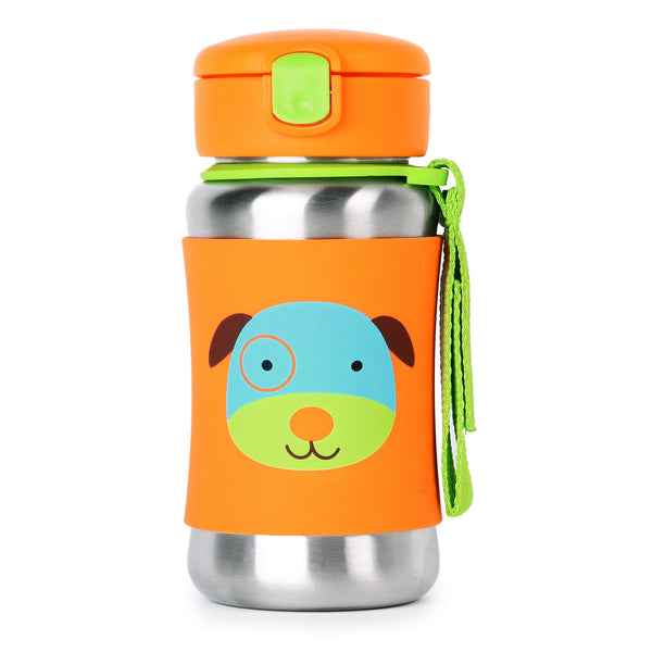 Skip Hop Zoo Stainless Steel Straw Bottle - Dog