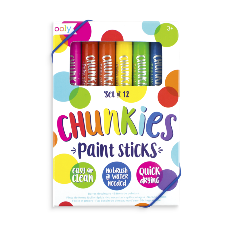 Ooly Chunkies Paint Sticks - 12 Pack