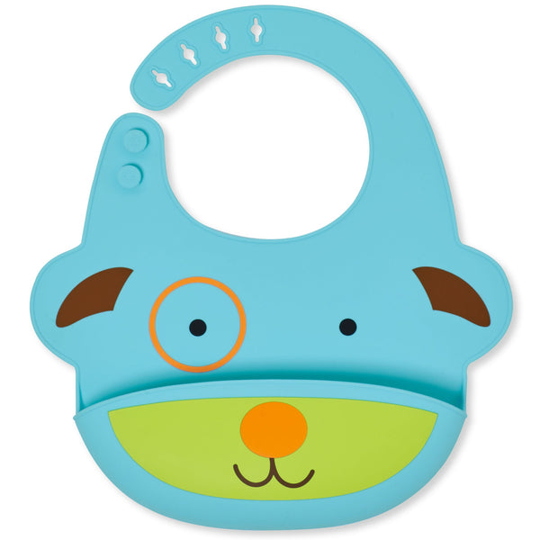 Skip Hop Zoo Fold and Go Silicone Bib - Dog