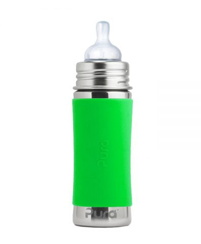 Pura Kiki Infant Bottle - Green Sleeve / 11oz