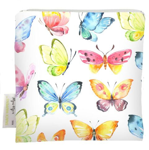 Itzy Ritzy Snack Happens Snack Bag - Beautiful Butterflies