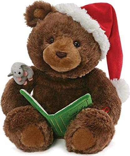 Gund Animated Holiday Storytime Bear