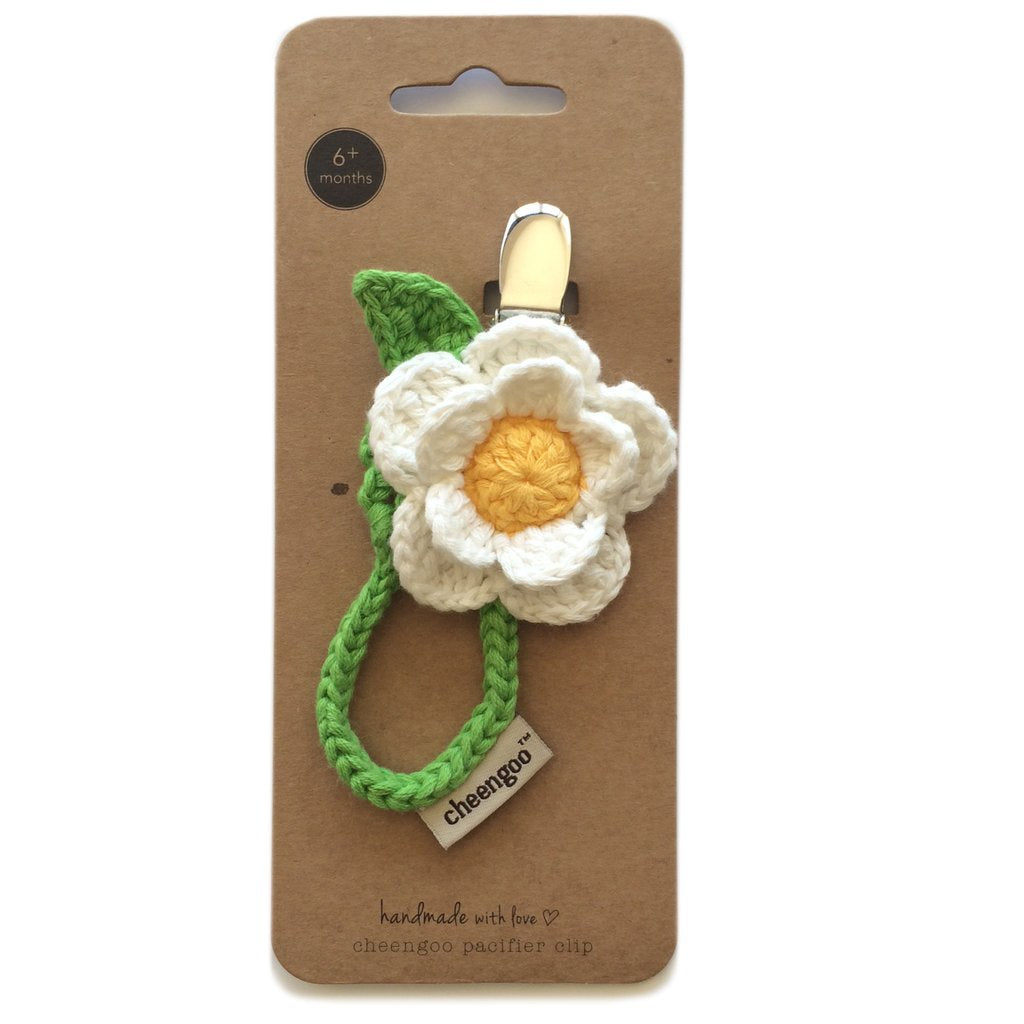 Cheengoo Crocheted Pacifier Clip - Daisy