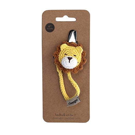 Lion Crocheted Pacifier Clip