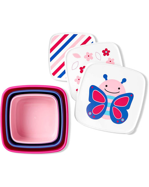 Skip Hop Toddler Food Storage Snack Box Set, Butterfly