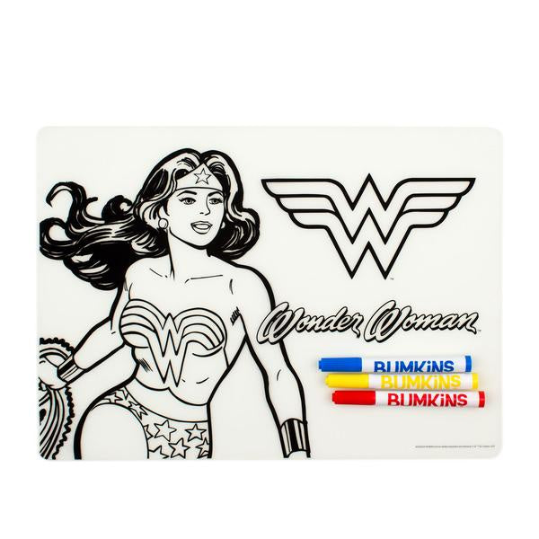 Bumkins Silicone Coloring Placemat - Wonder Woman