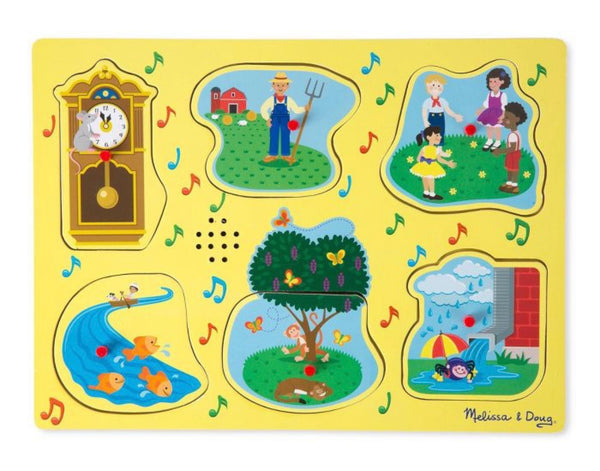 Melissa & Doug Sing-Along Nursery Rhymes Sound Puzzle – 1