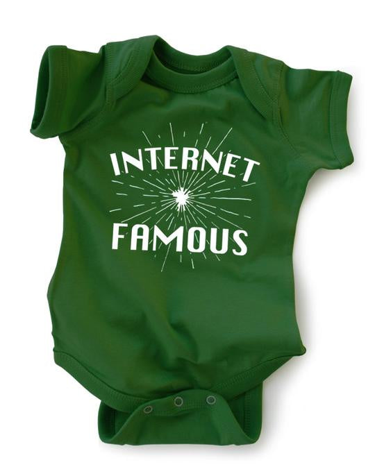 Wry Baby Snap Suit Onesie - Internet Famous / 0-6 Months