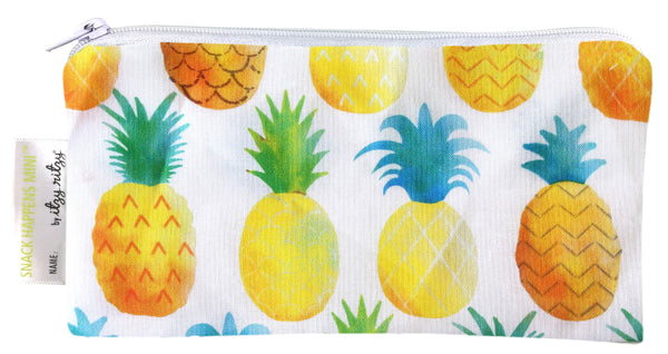 Itzy Ritzy Snack Happens Mini Snack Bag - Painterly Pineapple