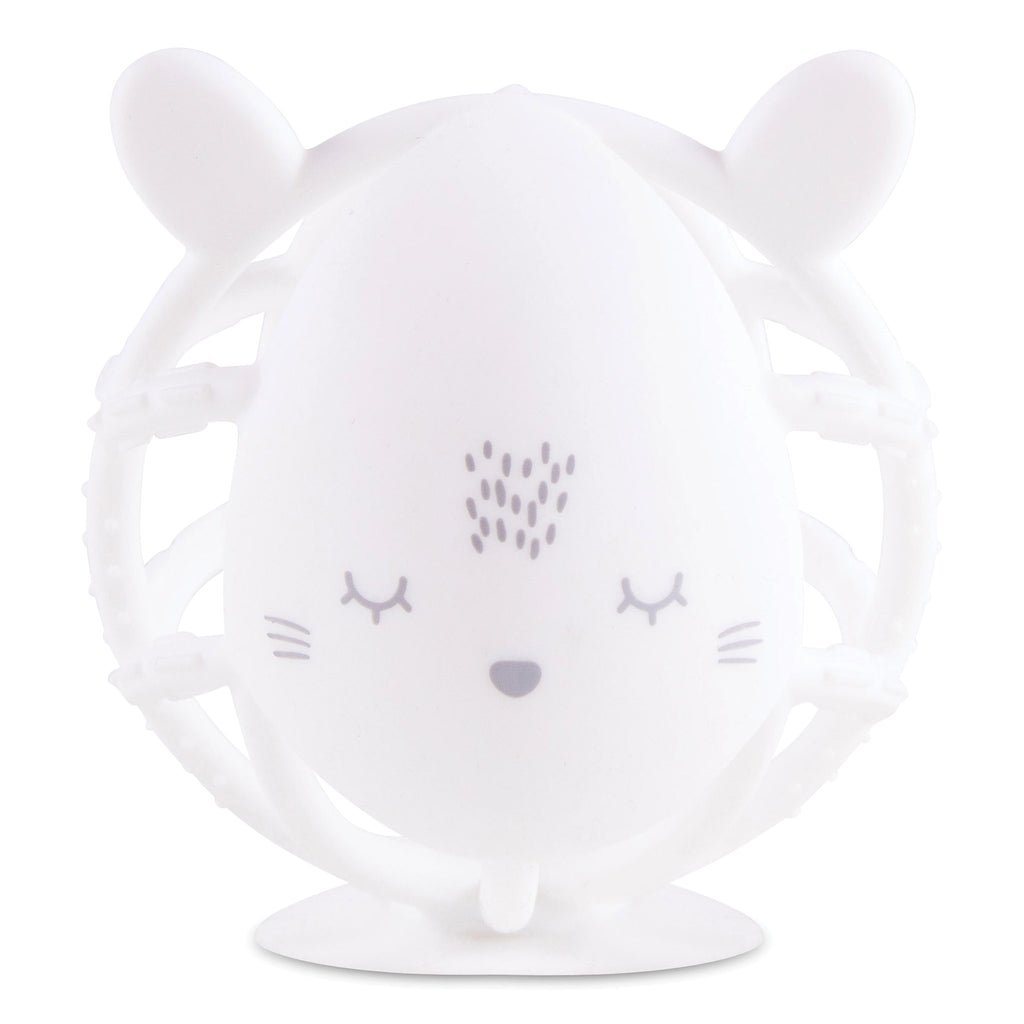 Tiny Twinkle Bunny Silicone Teether Toy - White
