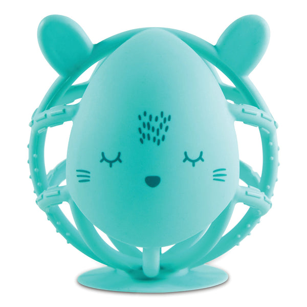 Tiny Twinkle Bunny Silicone Teether Toy - Mint