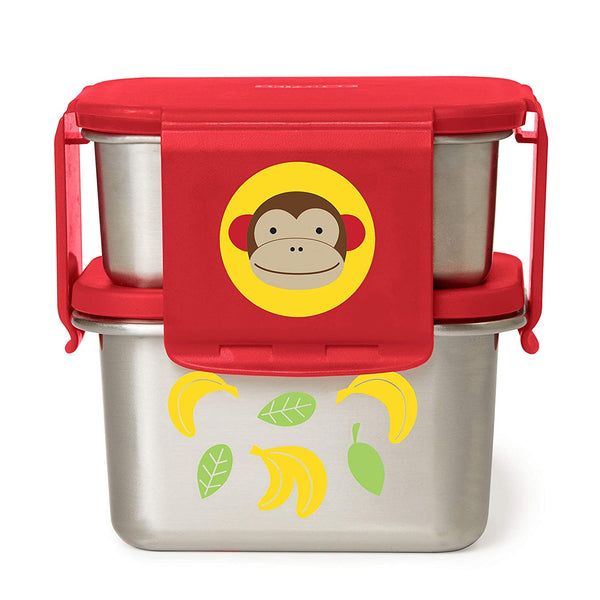 Skip Hop Stainless Steel Toddler Lunch Kit, Monkey