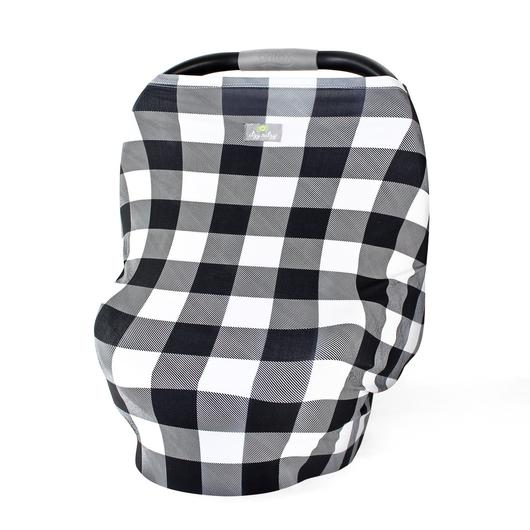 Itzy Ritzy Mom Boss Multi-Use Cover - Black & White Gingham