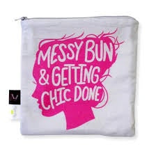 Itzy Ritzy After Dark Food Safe Pouch - Messy Bun Chic