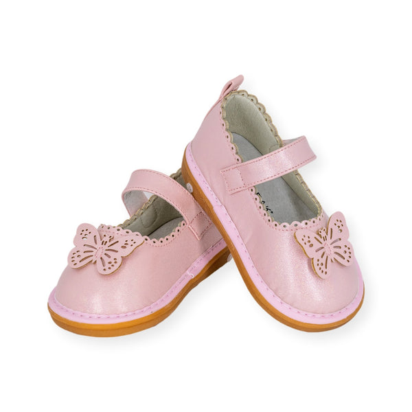 Wee Squeak Camille Pink Shimmer Shoes