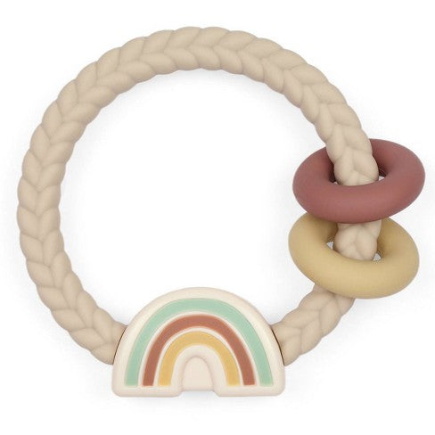 Itzy Ritzy Ring Rattle & Teether - Neutral Rainbow