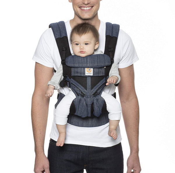 Ergobaby Omni 360 All-in-One Carrier - Indigo Weave Cool Air Mesh