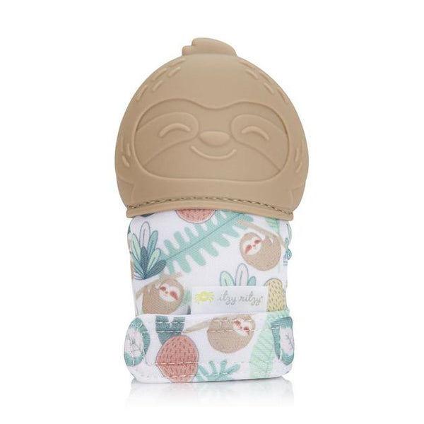 Itzy Ritzy Silicone Teething Mitt - Sloth
