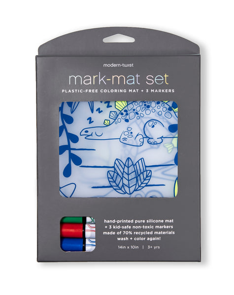 Modern Twist Mark-Mat and 3 Pack Markers - Dino Maze