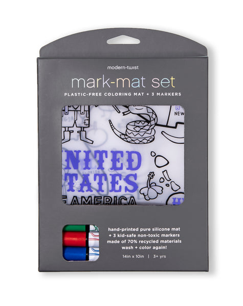 Modern Twist Mark-Mat and 3 Pack Markers - US Map