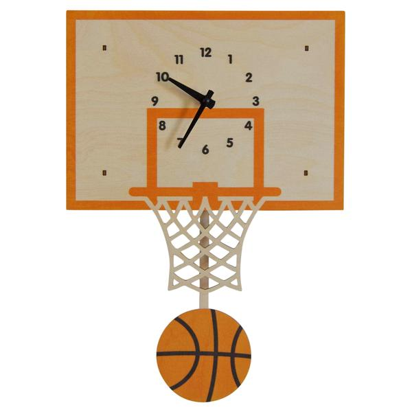Modern Moose Pendulum Clock - Basketball