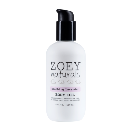 Zoey Naturals Soothing Lavender Body Oil - 4oz.