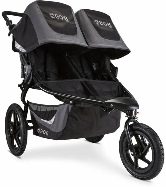 BOB Revolution FLEX 3.0 Duallie Double Jogging Stroller - Graphite Black