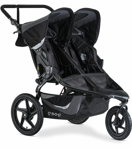 BOB 2020 Revolution FLEX 3.0 Duallie Double Jogging Stroller - Graphite Black