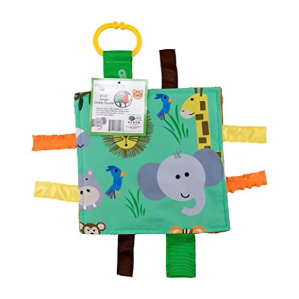 Baby Jack Jungle Zoo Crinkle Tag Square