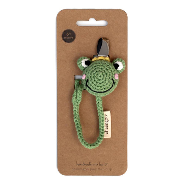 Cheengoo Crocheted Pacifier Clip - Frog