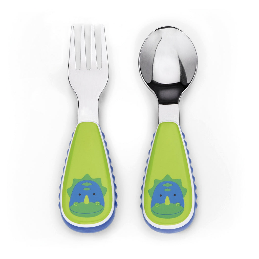 Skip Hop Zootensils Fork and Spoon - Dinosaur