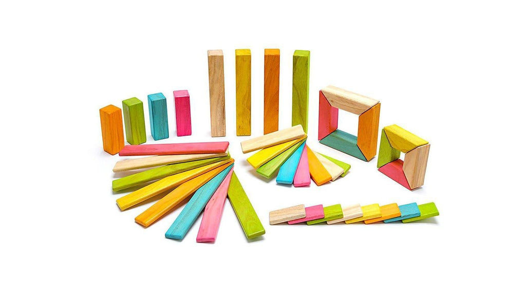 Magnetic Wooden Blocks 42 Piece Set