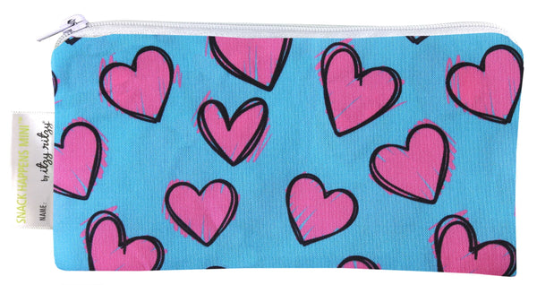 Itzy Ritzy Snack Happens Mini Snack Bag - Happy Hearts