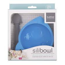 Kushies Silibowl & Spoon Set - Boy