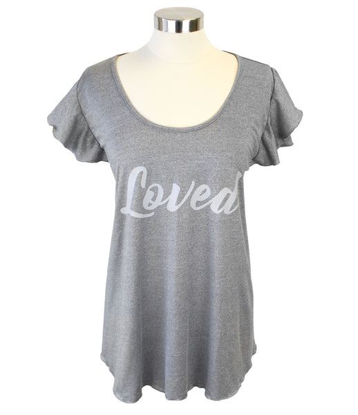 Itzy Ritzy Nursing Happens Graphic Tee Nursing Cover - Loved / Grey