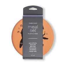 Modern Twist Silicone Meal Set - Fox Family / Melon