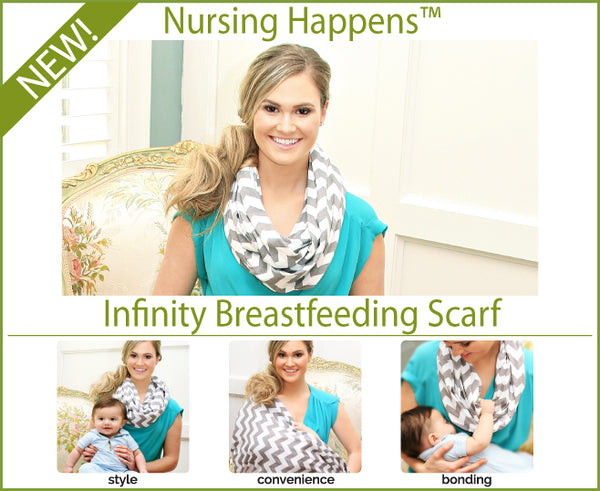 Nursing Happens Luxe Infinity Breastfeeding Scarf