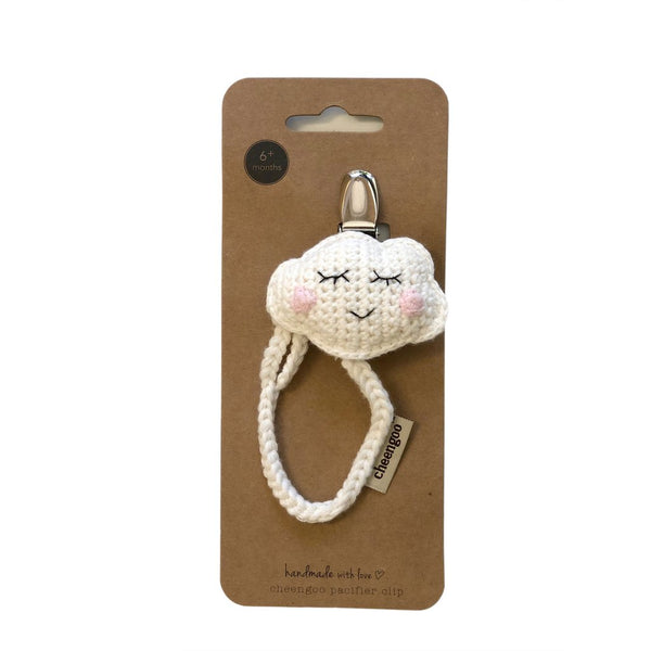 Cheengoo Crocheted Pacifier Clip - Cloud