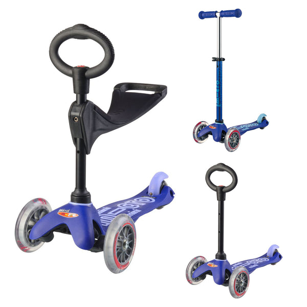 Micro Kickboard Mini 3-in-1 Deluxe Scooter - Blue