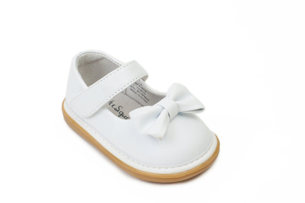 Wee Squeak White Bow Shoes
