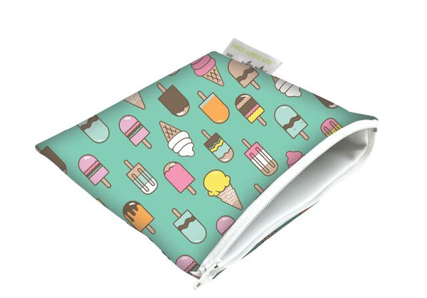 Itzy Ritzy Snack Happens Snack Bag - Ice Cream Social