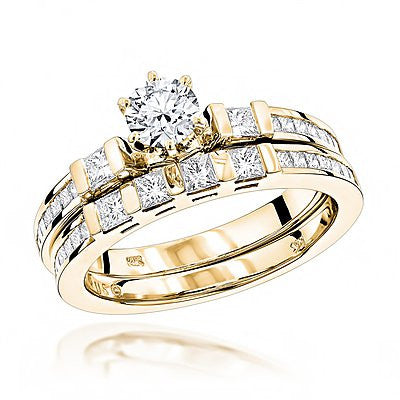 f996330e2 14K Gold Designer Diamond Engagement Ring Set 1.94ct – Iceberg Diamonds INC