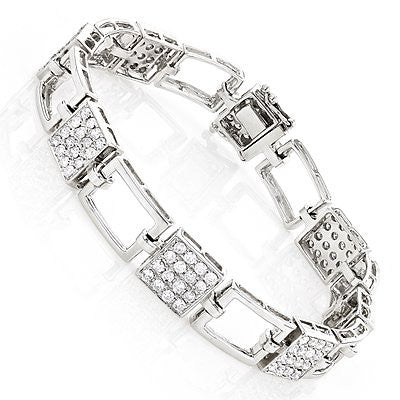 14K Ladies Diamond Bracelet 2.98ct