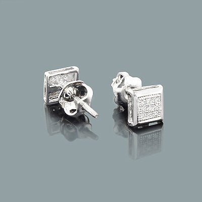 Affordable Diamond Studs 10K Small Diamond Earrings 0.07 ct.