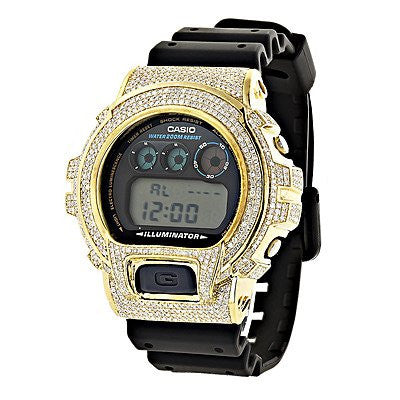 CUSTOM G-Shock Diamond Watch 5.25ct Yellow DW-6900