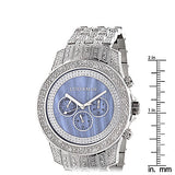 Luxurman Mens Watches Real Diamond Wrist Watch 1.25ct