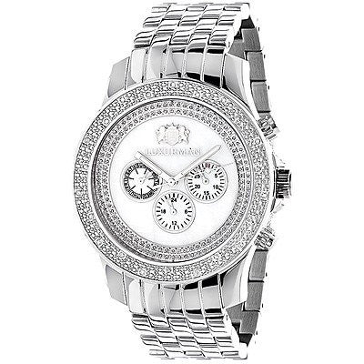 Luxurman Diamond Watches Mens Designer Watch 0.25ct