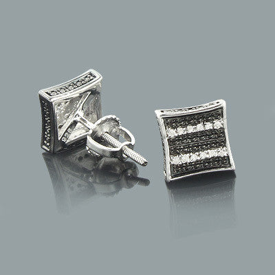 2310c6024 Black and White Stud Earrings with Diamonds 0.04ct