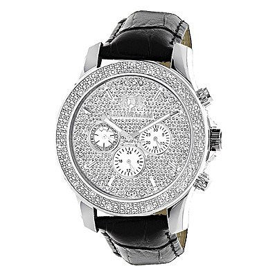Luxurman Mens Diamond Watch 0.25 ct Freeze