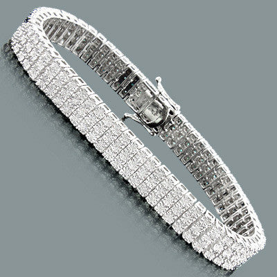 White Blue Diamond Bracelet for Men 0 60ct Sterling Silver